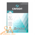 Canson Bristol Paper Pad 250gsm A4 20 Sheets #200457150