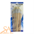 Artboard Hog Hair Long Handle Brush Set 12/pkg Round