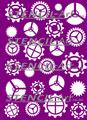 Stencil - Steampunk Gears A5