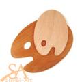 Wooden Palette Kidney Shape Large 30x40x5cm