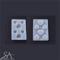 Silicone Mould - Assorted Hearts 65x43x7mm