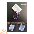 Silicone Resin Mould – Rectangle Pendant Glass Effect 44x30.5x17mm