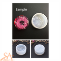 Silicone Resin Mould – Round Pendant Glass Effect 38x17mm