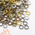 Brass Unsoldered Jump Rings 5x1mm 50g – Mixed Colours