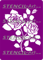 Stencil – Rose Bouquet