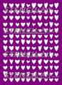 Stencil - Wonky Hearts