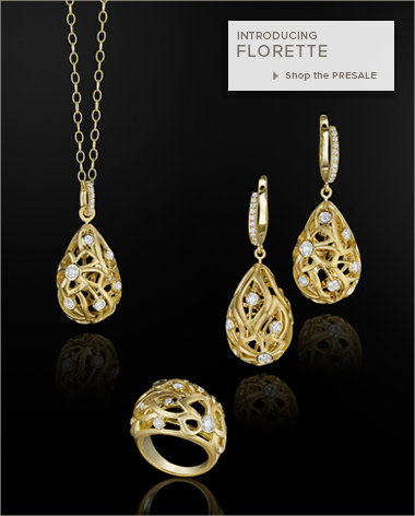 18K Gold and Diamond jewelry from Carelle's Florette Collection