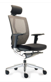 Vergas High Mesh Back Office Chair with Arms and Headrest