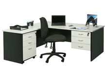 YS Design White & Ironstone Desk Package