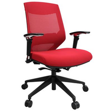 Vogue Mesh Back Office Chair  - Red