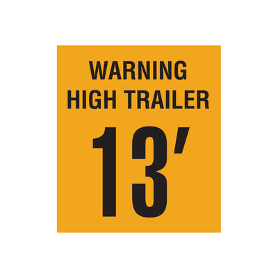 "D-1250 ""Warning High Trailer..."" Inspection Decal"