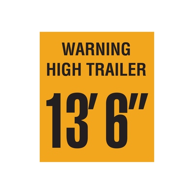 "D-1251 ""Warning High Trailer..."" Inspection Decal"
