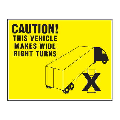 "D-1410 ""Caution This Vehicle..."" Inspection Decal"