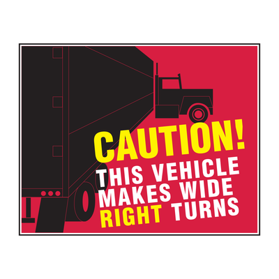 "D-1411 ""Caution This Vehicle..."" Inspection Decal"