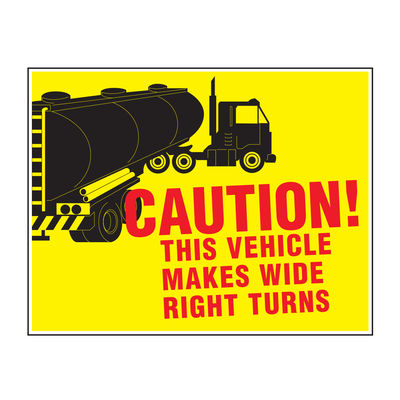 "D-1412 ""Caution This Vehicle..."" Inspection Decal"