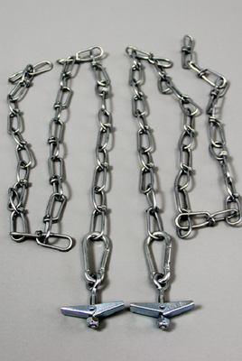 Hardware Kit for Clearance Bar - Includes (2) 3' Chain Sections & Toggle Screws