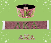 FOUNDERS' DAY BUNDLE:    AKA  Pink  Bracelet  &  Crystal Pin Combo.