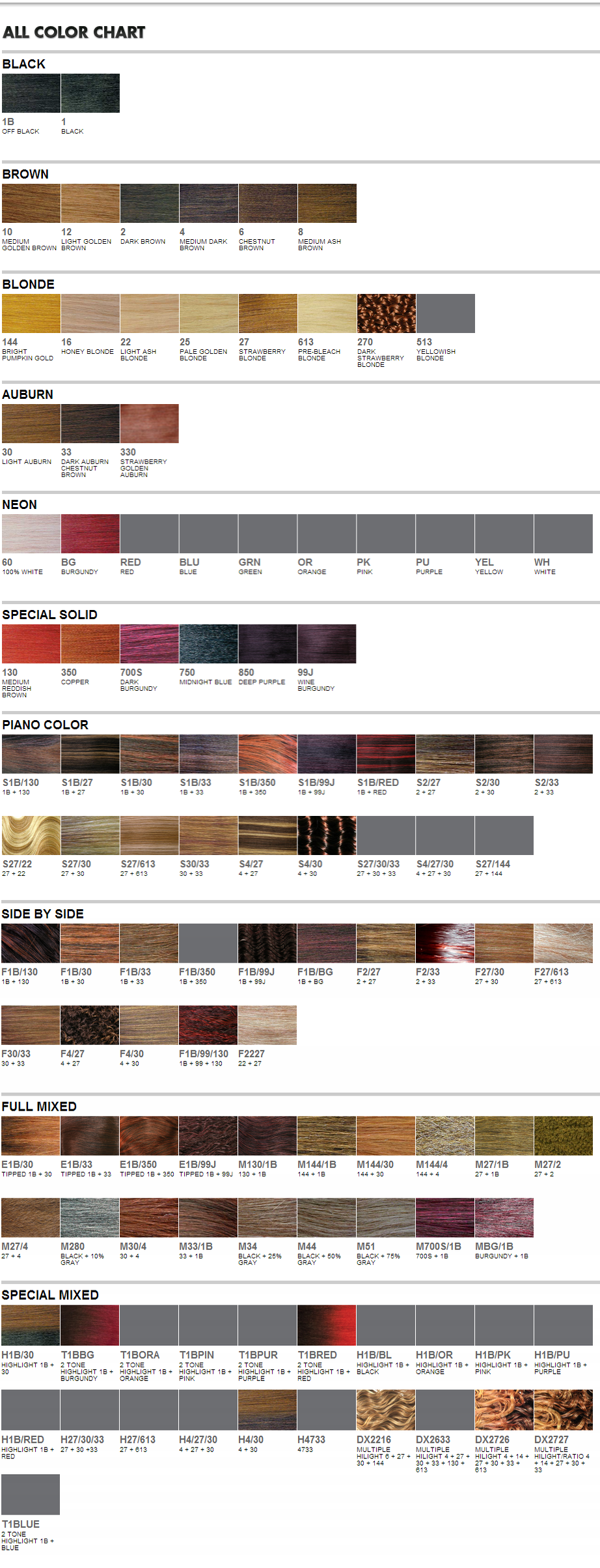 Wigextensionsale web pages sensationnel color chart sensationnel color chart wig extension sale nvjuhfo Gallery