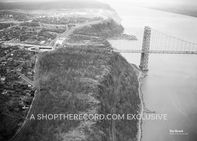 """Fort Lee and the George Washington Bridge, 1955"" 30x40 Mounted Canvas Print"