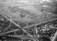 """Garden State Plaza, Paramus 1961"" 30x40 Mounted Canvas Print"