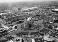 """New York World's Fair from the Air, 1965"" 30x40 Mounted Canvas Print"