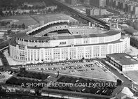 """Yankee Stadium from the Air, 1963"" 30x40 Mounted Canvas Print"