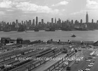 """Manhattan Skyline, 1963"" 30x40 Mounted Canvas Print"