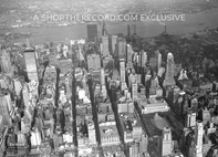 """New York City from Above, 1960"" 30x40 Mounted Canvas Print"