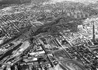 """Paterson and the Falls from Above, 1974"" 30x40 Mounted Canvas Print"