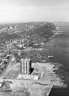 """Edgewater Coastline, 1970 "" 40x30 Mounted Canvas Print"