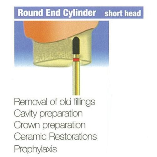 Diamond Burs Round End Cylinder - Short Head