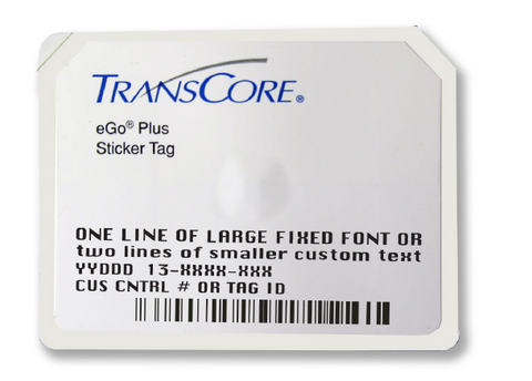 TransCore eGo Plus Mini Sticker RFID Tag | 13-4750-001