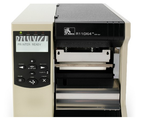 Zebra R110Xi4 RFID Printer-Encoder (203 dpi, Serial, Parallel, USB, ZebraNet 10/100 PrintServer, UHF)   R12-801-00000-R0