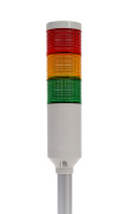 Tri-Color 12V Tower Stack Light | PREF-301-RYG + MAM-DS25 + MAP-M240