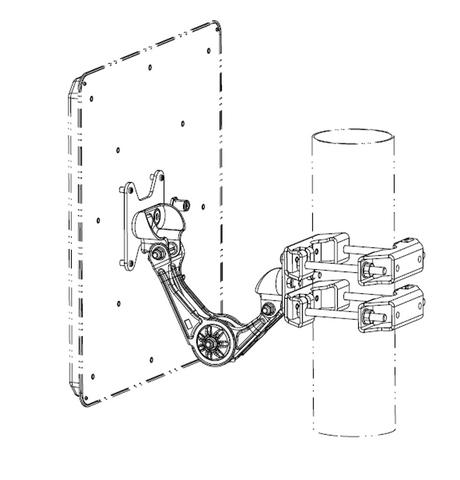 Kathrein Wide Range 40° RFID Antenna Mounting Kit   52010262