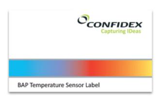 Confidex Temperature Monitoring UHF RFID Label   3000499