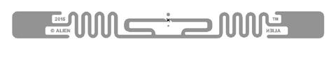 Alien Squiggle RFID Clear Wet Inlay (ALN-9840, Higgs-EC)| ALN-9840-WRC