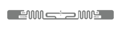 Alien Squiggle RFID Clear Wet Inlay (ALN-9640, Higgs-3) | ALN-9640-FWRCA