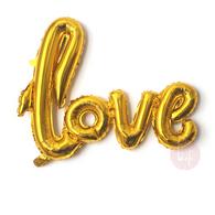 Gold Cursive Love Script Foil Balloon