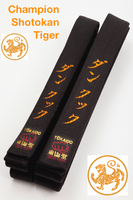 Champion Shotokan Tiger Black Belt