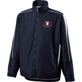 Jacket shown with tuck-away hood rolled into the collar.