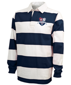 DeSales Rugby Stripe Polo, Navy/White