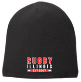 Rugby Illinois Fleece-Lined Beanie, Black