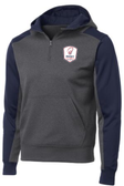 Rugby Illinois 1/4-Zip Performance Fleece Hoodie, Gray/Navy