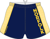 Norfolk Storm Custom Performance Rugby Shorts, Navy