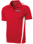 Coventry Colorblock Performance Polo, Red/White