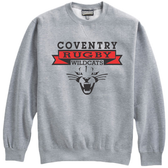Coventry Rugby Wildcats Crewneck Fleece, Gray
