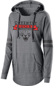 Coventry Ladies-Cut Hooded Pullover, Gray/Black