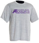 Charm City Knights Performance Tee, Gray