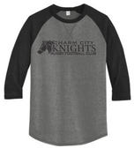 Charm City Knights 3/4-Sleeve Tee, Coal/Black